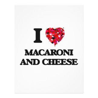 "I love Macaroni And Cheese 8.5"" X 11"" Flyer"