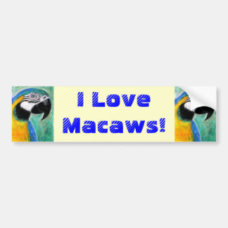 I Love Macaws! Bumper Sticker