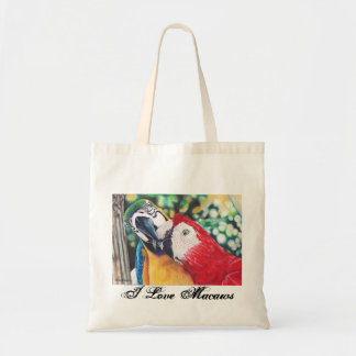 I love macaws tote bag