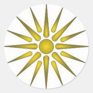 I love Macedonia Classic Round Sticker
