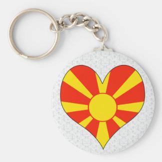 I Love Macedonia Keychain