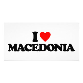 I LOVE MACEDONIA PICTURE CARD