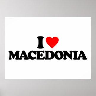 I LOVE MACEDONIA PRINT