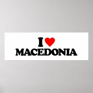 I LOVE MACEDONIA POSTERS