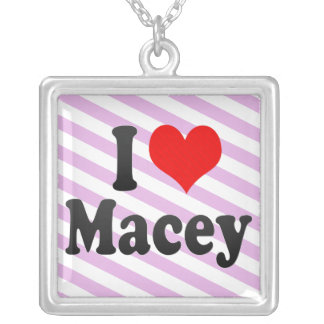 I love Macey Square Pendant Necklace