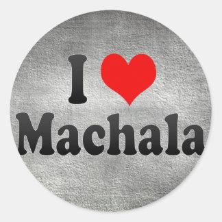 I Love Machala, Ecuador Classic Round Sticker