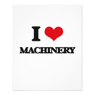 I Love Machinery Full Color Flyer