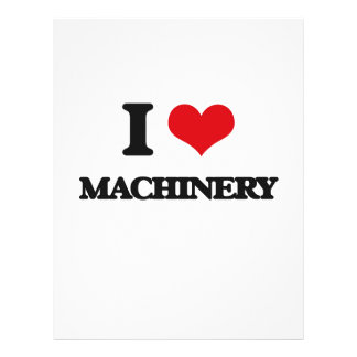 I Love Machinery Personalized Flyer