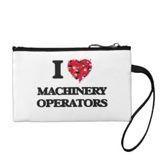 I Love Machinery Operators Coin Wallets