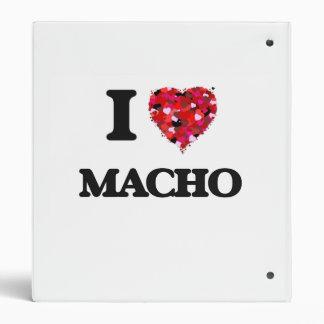 I Love Macho 3 Ring Binders