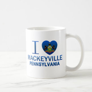 I Love Mackeyville, PA Classic White Coffee Mug