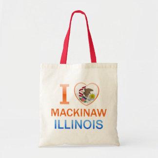I Love Mackinaw, IL Canvas Bags