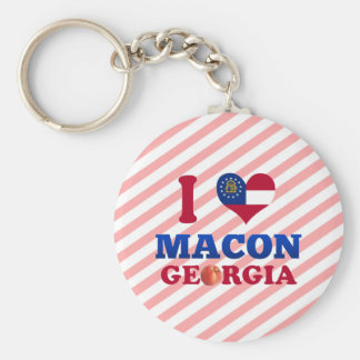 I Love Macon, Georgia Keychain