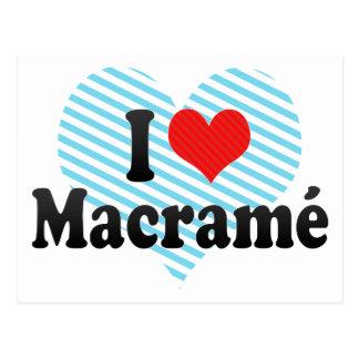 I Love Macramé Postcard