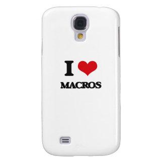 I Love Macros Galaxy S4 Cases