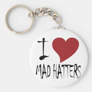 I Love Mad Hatters Keychain
