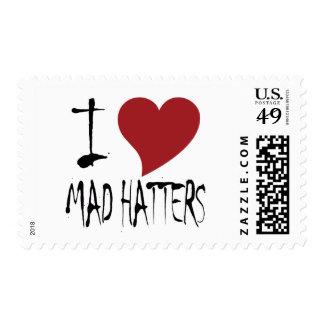 I Love Mad Hatters Postage