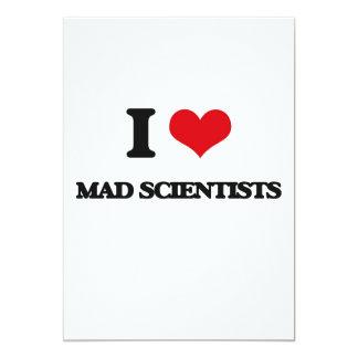 I love Mad Scientists 5x7 Paper Invitation Card