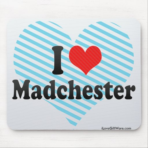 I Love Madchester Mouse Pad