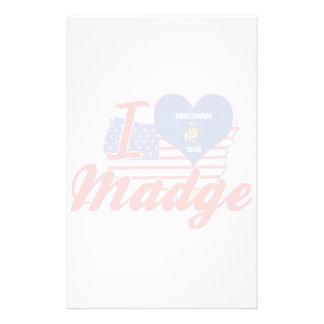 I Love Madge, Wisconsin Customized Stationery