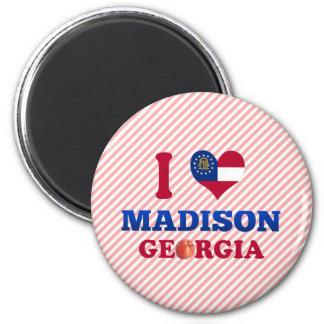 I Love Madison, Georgia 2 Inch Round Magnet