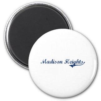 I Love Madison Heights Michigan 2 Inch Round Magnet
