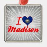 I Love Madison, New Hampshire Ornaments