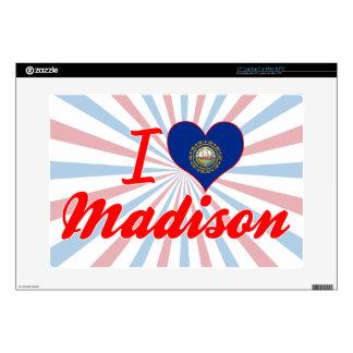 """I Love Madison, New Hampshire 15"""" Laptop Skin"""