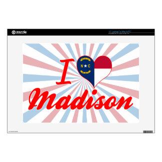 I Love Madison, North Carolina Skin For Laptop