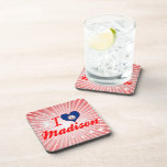 I Love Madison, Virginia Drink Coaster