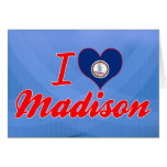 I Love Madison, Virginia Greeting Card