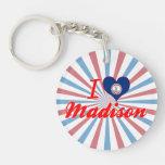 I Love Madison, Virginia Single-Sided Round Acrylic Keychain