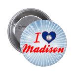 I Love Madison, Virginia Pinback Buttons
