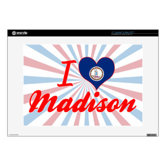 I Love Madison, Virginia Decal For Laptop