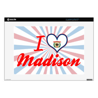 """I Love Madison, West Virginia Decals For 15"""" Laptops"""