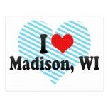 I Love Madison, WI Post Card
