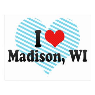 I Love Madison, WI Postcard