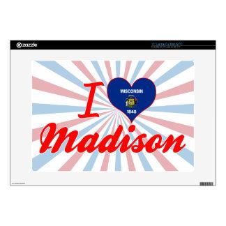 I Love Madison, Wisconsin Skin For Laptop