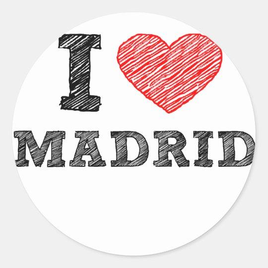I Love Madrid Classic Round Sticker