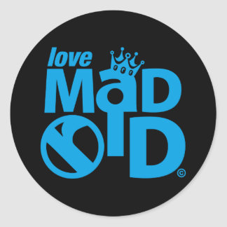 I Love Madrid Crown & Sign ED. Classic Round Sticker