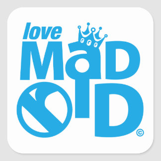 I Love Madrid Crown & Sign ED. Square Sticker