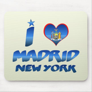 I love Madrid, New York Mouse Pads