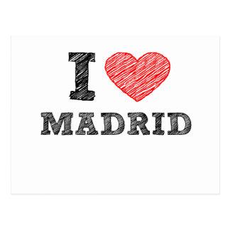 I Love Madrid Postcard