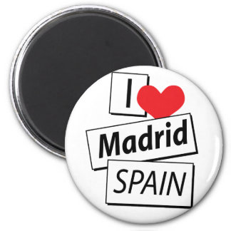 I Love Madrid Spain 2 Inch Round Magnet