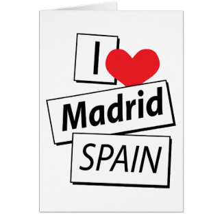 I Love Madrid Spain Card