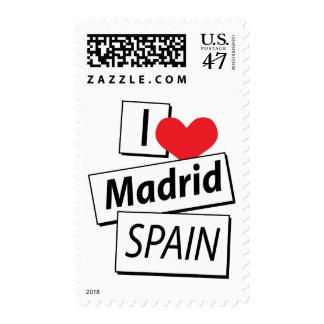 I Love Madrid Spain Postage Stamp