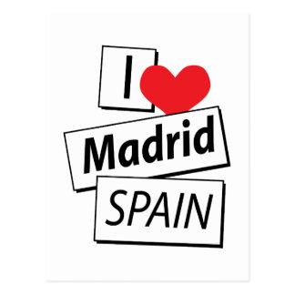 I Love Madrid Spain Postcard