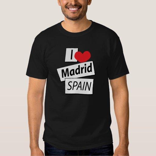 I Love Madrid Spain T-shirts