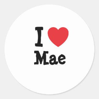 I love Mae heart T-Shirt Round Sticker