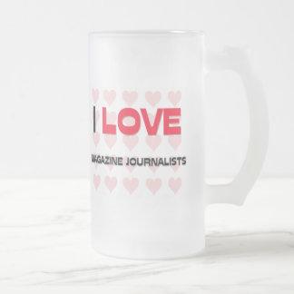 I LOVE MAGAZINE JOURNALISTS 16 OZ FROSTED GLASS BEER MUG